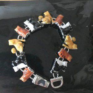 Cat Bracelet Magnetic Closure Sitting Kitties New